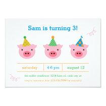 Three Little Pigs Invitation