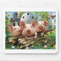 Three Little Pigs Mouse Pad
