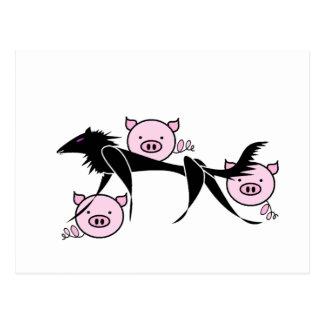Three Little Pigs Postcards