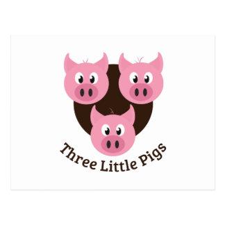 Three Little Pigs Post Card