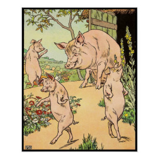 Three Little Pigs: She Sent Them Out Poster
