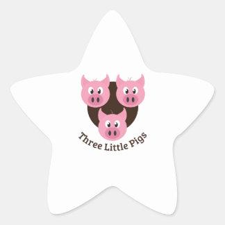 Three Little Pigs Star Sticker