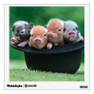 Three little pigs - three pigs - pig hat wall sticker