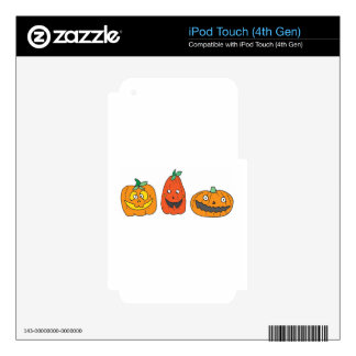THREE LITTLE PUMPKINS DECALS FOR iPod TOUCH 4G