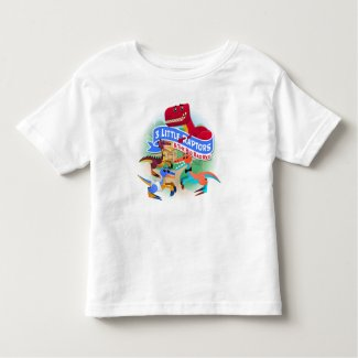 Three Little Raptors & T-Rex Toddler T-Shirt