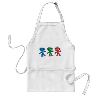 Three Little Robots Adult Apron