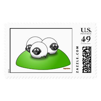 Three Little Sheeps with Logo Postage Stamp