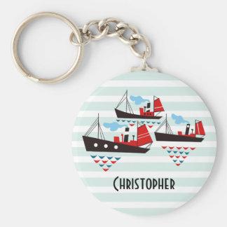 Three Little Ships Keychain