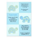 Three Little Turtles Mod Turtle 5x7 Baby Shower Invite