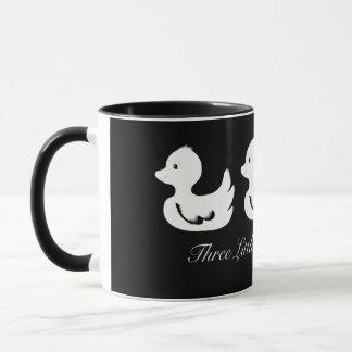 Three Little White Ducks Milk and Coffee Mug