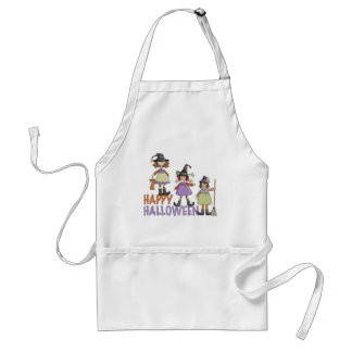 Three Little Witches Halloween Fun Apron