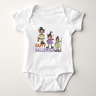 Three Little Witches Halloween Fun Baby Bodysuit