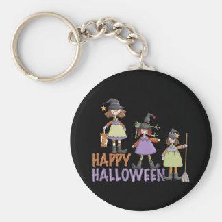 Three Little Witches Halloween Fun Keychain