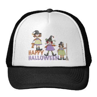 Three Little Witches Halloween Fun Trucker Hat