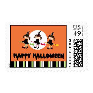 Three Little Witches Happy Halloween Stamp