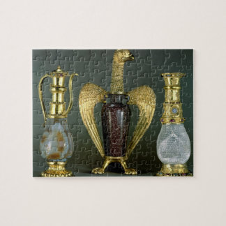 Three liturgical vessels incorporating antique ves jigsaw puzzle