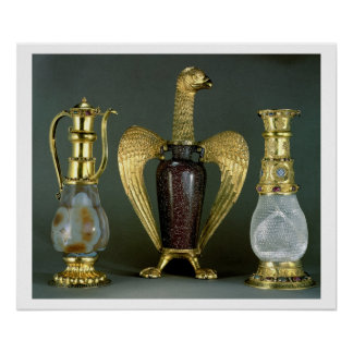 Three liturgical vessels incorporating antique ves poster