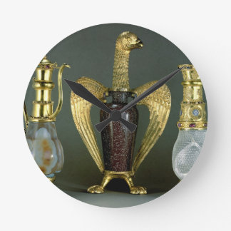 Three liturgical vessels incorporating antique ves round clock