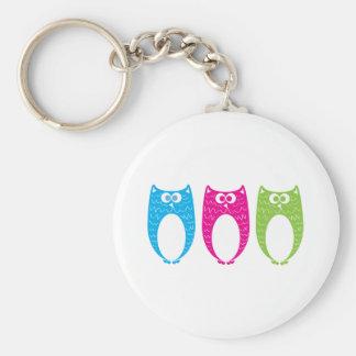 Three Long Birds Basic Round Button Keychain