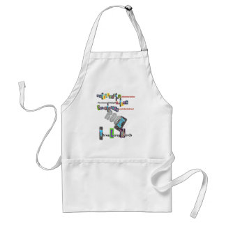 Three Long Words ROCK Adult Apron