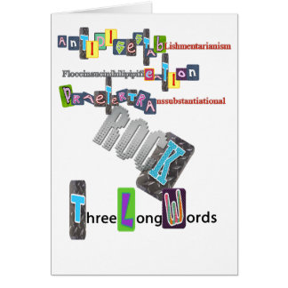 Three Long Words ROCK Greeting Card
