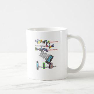 Three Long Words ROCK Coffee Mug