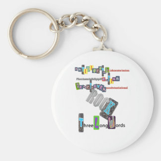 Three Long Words ROCK Keychains