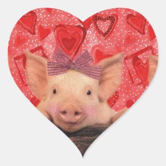 Three lovely valentine pigs