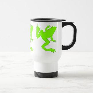Three Lucky Chartreuse Frogs Mug
