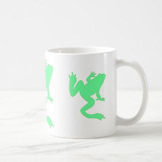 Three Lucky Green Frogs Coffee Mug