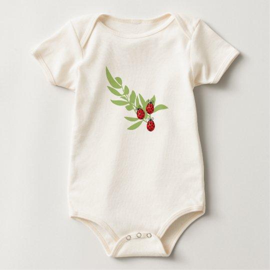 Three Lucky Ladybugs Baby Bodysuit