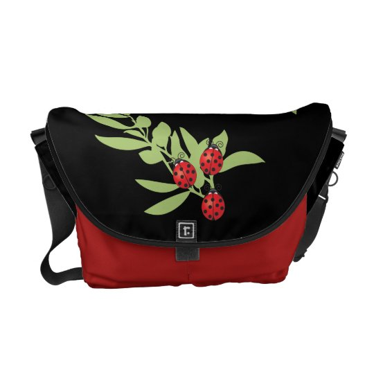 Three Lucky Ladybugs Courier Bag