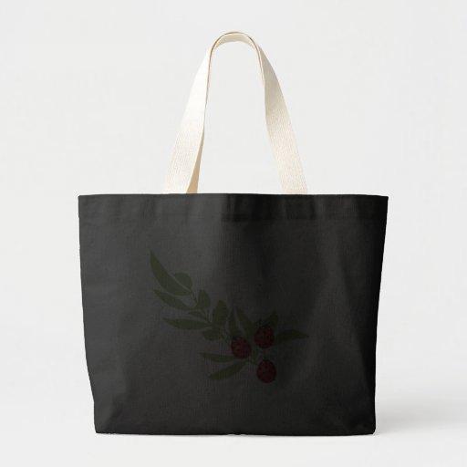 Three Lucky Ladybugs Large Tote Bag
