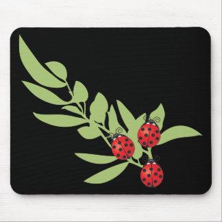 Three Lucky Ladybugs Mouse Pad