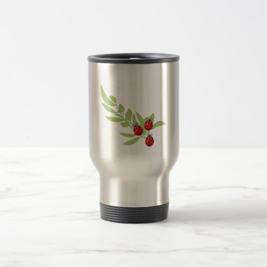 Three Lucky Ladybugs Travel Mug