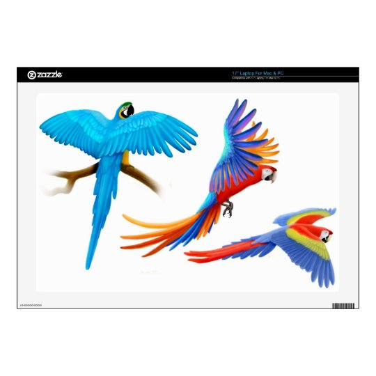 Three Macaw Parrots Laptop Skin