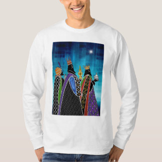 Three Magi Bearing Gifts Under Starry Sky T Shirts