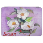 Three Magnolias iPad Cover with Your Name