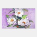 Three Magnolias Rectangle Sticker