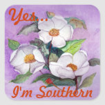 Three Magnolias Square Stickers