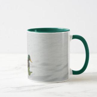 Three mallard ducks coffee mug