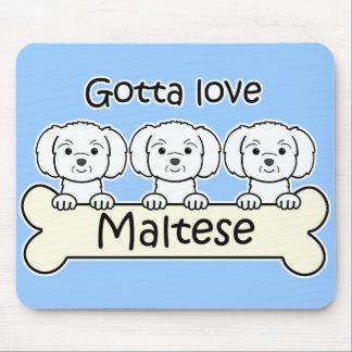 Three Maltese Mouse Pad