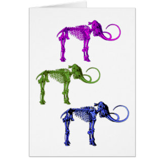 Three Mammoth Skeletons Greeting Card