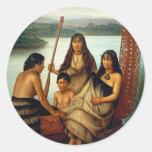 'Three Maori Girls and a Boy' - Lindauer Sticker