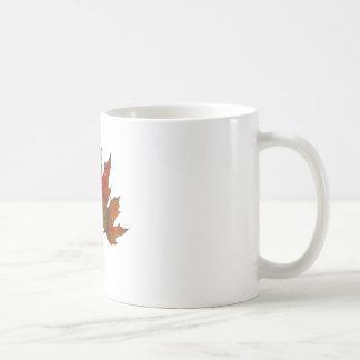 Three Maple Leaves in Autumn: Realism Art Coffee Mug