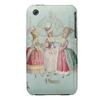 Three Marie Antoinette French Girls iPhone 3 Cover