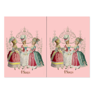 Three Marie Antoinette Girls in Waiting Business Card