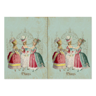Three Marie Antoinette Girls in Waiting Business Card Template