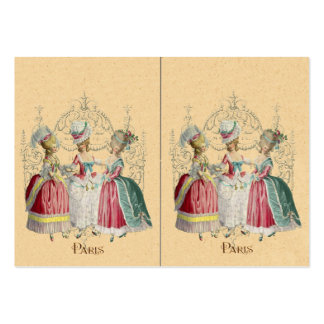 Three Marie Antoinette Girls in Waiting Business Card Templates