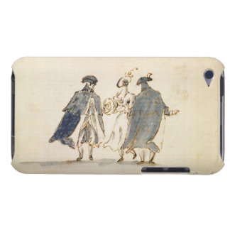 Three Masked Figures in Carnival Costume (pen & in Case-Mate iPod Touch Case
